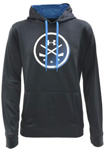Under Armour Men's UA Icon Hockey Stick Hoodie Hoody Sweatshirt (Black, SM)