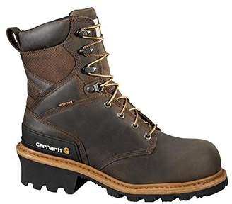 "Carhartt Men's CML8360 8"" Waterproof Composite Toe Leather Logger Boot"