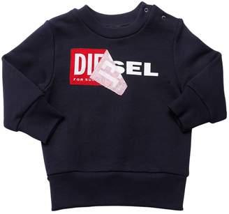 Diesel Reworked Logo Cotton Sweatshirt