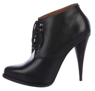Givenchy Leather Pointed-Toe Booties