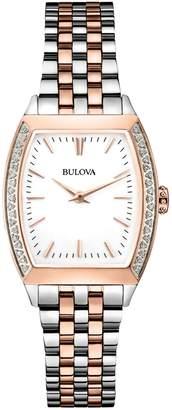 Bulova Analog Diamond Gallery Collection Two-Tone Bracelet Watch with 0.19 CT. T.W. Diamonds