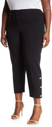 Nine West Plus Slim-Stretch Button-Cuff Pants, Plus Size