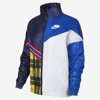 Nike Women's Woven Plaid Jacket Sportswear NSW