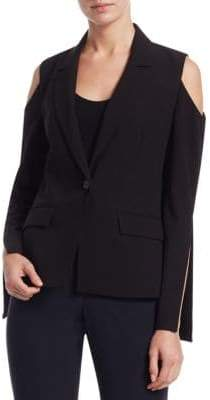Peserico Slit Detail Cold-Shoulder Blazer