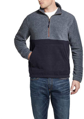 AMERICAN THREADS American Threads Crushed Fleece Mens Long Sleeve Quarter-Zip Pullover