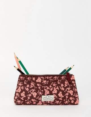 Jack Wills floral print pencil case