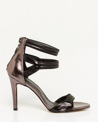 Le Château Italian-Made Metallic Leather Sandal