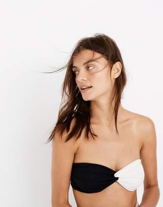 Madewell Mara Hoffman Chey Twist-Front Bandeau Bikini Top in Colorblock