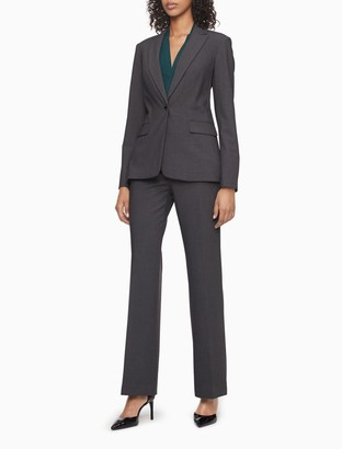 Calvin Klein straight charcoal suit pants