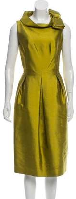 Michael Kors Wool and Silk Blend Pleated Dress