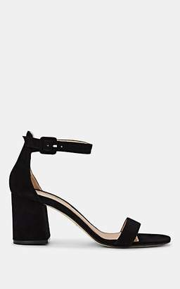 Barneys New York Women's Suede Ankle-Strap Sandals - Black