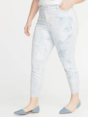 7ac0b51c587 Old Navy High-Rise Secret-Slim Pockets Dip-Dye Rockstar Plus-Size