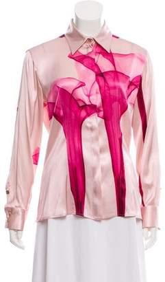 Versace Silk Button-Up Top