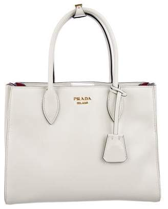 Prada City Calf Medium Bibliothèque Bag