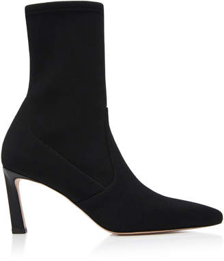 Stuart Weitzman Rapture Stretch-Knit Ankle Boots