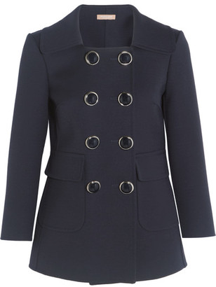 Michael Kors Collection - Double-breasted Wool-crepe Blazer - Navy $2,495 thestylecure.com
