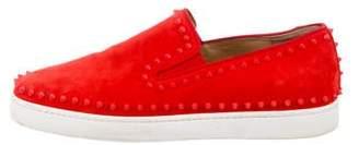 Christian Louboutin Suede Pik Boat Sneakers