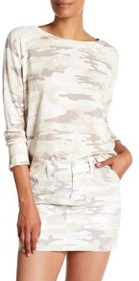 Sanctuary Trixie Lace-Up Camo Pullover