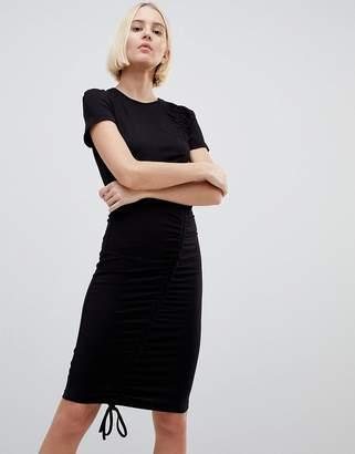 Minimum Gathered Front Mini Dress
