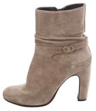 Officine Creative Ruched Suede Ankle Boots w/ Tags