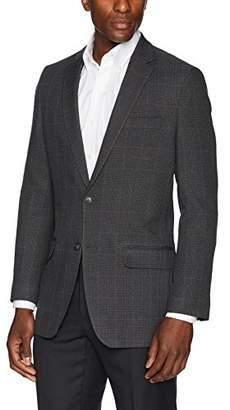 Haggar Men's Glen Plaid Fancy Tailored Fit 2-Button Sport Coat