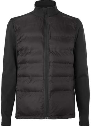 2XU Quilted Shell and Stretch-Jersey Jacket - Black