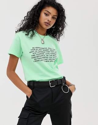 New Girl Order boyfriend t-shirt with manifesto graphic