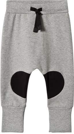 Papu Grey Melange Black Patch Sweatpants