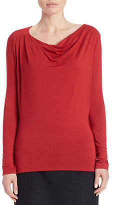 Lord & Taylor Draped Neck Blouse $40 thestylecure.com