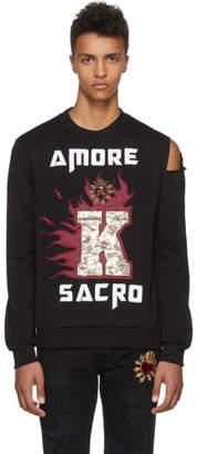 Dolce & Gabbana Black Amore Slit Sweatshirt