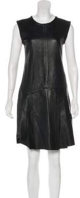 J. Mendel Leather Sheath Dress
