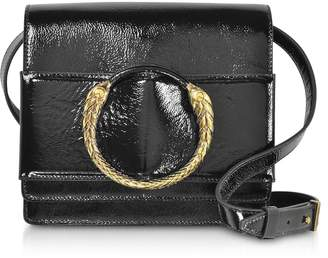 Roberto Cavalli Black Patent Leather Crossbody Bag