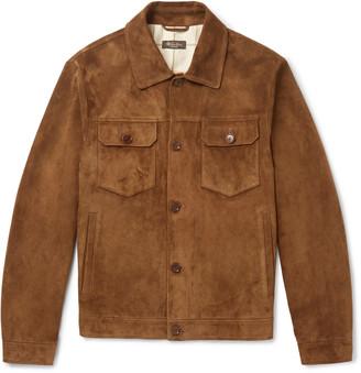 Loro Piana Suede Trucker Jacket - Men - Brown