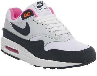 41f7ab058d262 Nike 1 Trainers White Midnight Navy Pure Platinum Racer Pink F