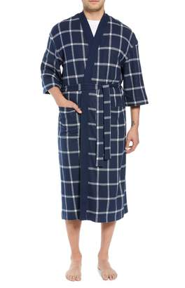 Majestic International Graytson Fleece Kimono Robe