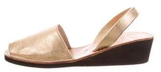 Zero Maria Cornejo Metallic Slingback Sandals w/ Tags