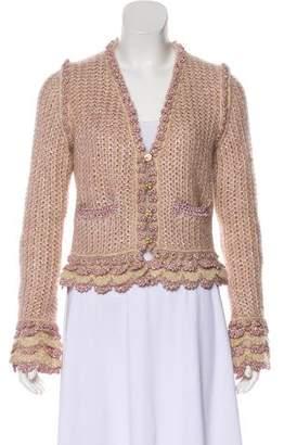 Chanel Metallic Knit Cardigan