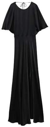 MANGO Back detail satin dress