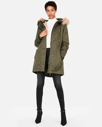 Express Zip-Out Faux Fur Lined Anorak