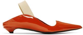 Proenza Schouler Red Patent Wave Strap Heels