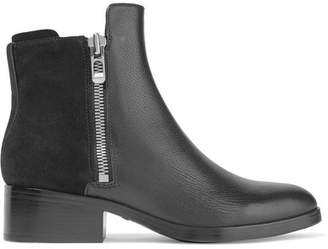 3.1 Phillip Lim - Alexa Textured-leather And Suede Ankle Boots - Black $550 thestylecure.com