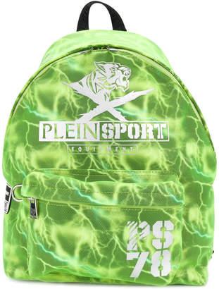 Plein Sport lightning printed backpack