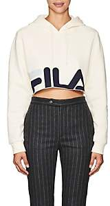 Fila Women's Logo Cotton-Blend Crop Hoodie-White
