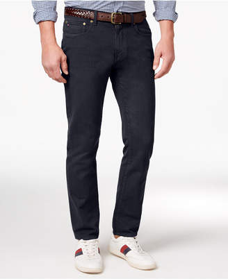 Tommy Hilfiger Men's Straight-Fit Cotton Jeans $59.50 thestylecure.com