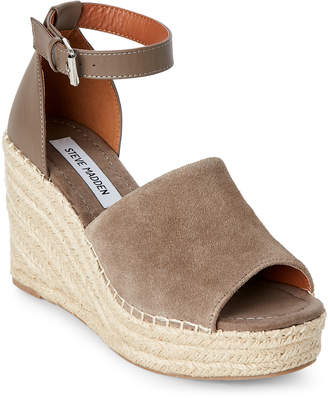 Steve Madden Taupe Jaylen Platform Wedge Espadrille Sandals