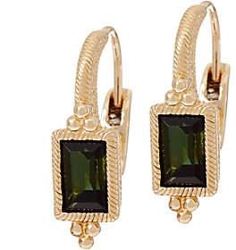 Judith Ripka 14K Gold 0.95 cttw GreenTourmaline Earr