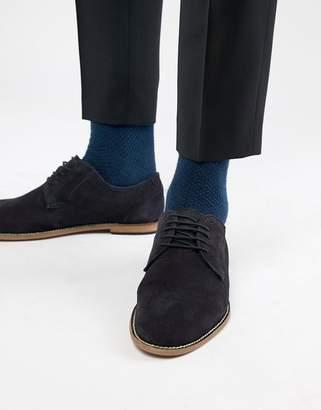 KG by Kurt Geiger KG Kurt Geiger Derby Shoes In Navy Suede