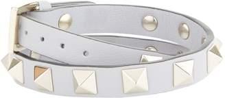 Valentino Leather Rockstud Double Wrap Bracelet