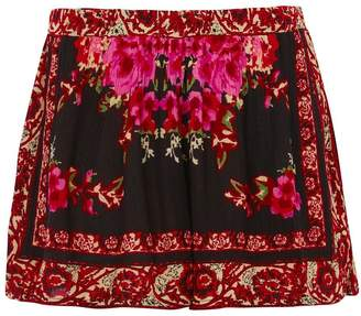Band of Gypsies Scarf Print Shorts