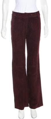 Dolce & Gabbana High-Rise Suede Pants